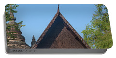 Wat Jed Yod Phra Ubosot Teakwood Gable Dthcm0968 Portable Battery Charger