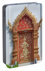 Portable Battery Charger featuring the photograph Wat Jed Yod Phra Wihan Rear Door Dthcm0916 by Gerry Gantt