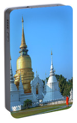 Portable Battery Charger featuring the photograph Wat Suan Dok Buddha Relics Chedi Dthcm0949 by Gerry Gantt
