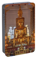 Portable Battery Charger featuring the photograph Wat Suan Dok Wihan Luang Buddha Images Dthcm0952 by Gerry Gantt