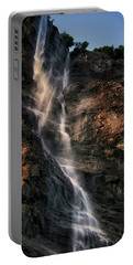 Portable Battery Charger featuring the photograph Geirangerfjord Waterfall by Jim Hill