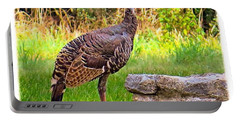 Watch Out Mr. #wild #turkey, I Would Portable Battery Charger by Austin Tuxedo Cat