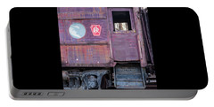 Portable Battery Charger featuring the photograph Watch Your Step Vintage Railroad Car by Terry DeLuco