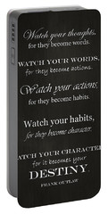 Watch Your Thoughts Portable Battery Charger by Inspired Arts