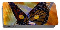 Portable Battery Charger featuring the photograph Watching Butterlies by David Lee Thompson
