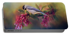 Watching Flowers Bloom Bird Art Portable Battery Charger