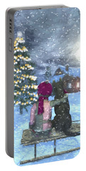 Watching For Santa Portable Battery Charger by Jayne Wilson