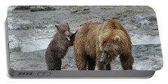 Watching For The Sockeye Salmon Portable Battery Charger