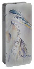 Portable Battery Charger featuring the painting Watching by Mary Haley-Rocks