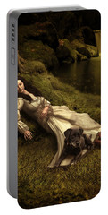 Sleeping Dog Mixed Media Portable Battery Chargers