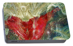 Portable Battery Charger featuring the digital art Watching Over  by Linda Sannuti