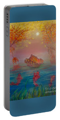 Watching The Dance Of The Fallen Elements Portable Battery Charger