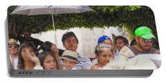 Portable Battery Charger featuring the photograph Watching The Parade by John Kolenberg