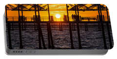 Watching The Sunset Portable Battery Charger by Ed Clark