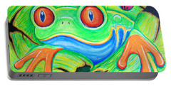 Watching You Red Eyed Tree Frog Portable Battery Charger