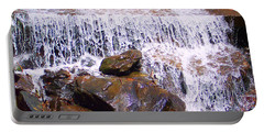 Portable Battery Charger featuring the photograph Water Cascade by Roberta Byram