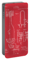 Water Closet Patent Art Red Portable Battery Charger