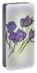 Portable Battery Charger featuring the painting Water Color Pencil Exercise by Clyde J Kell