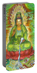 Water Dragon Kuan Yin Portable Battery Charger by Sue Halstenberg