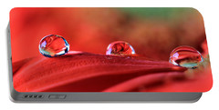 Water Drop Reflections Portable Battery Charger by Angela Murdock