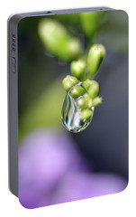 Portable Battery Charger featuring the photograph Water Droplet Iv by Richard Rizzo