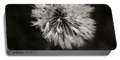 Water Drops On Dandelion Flower Portable Battery Charger