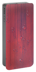 Water Drops On Red Portable Battery Charger
