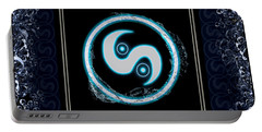 Portable Battery Charger featuring the digital art Water Emblem Sigil by Shawn Dall
