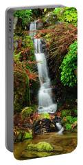 Waterfall At Kubota Garden Portable Battery Charger