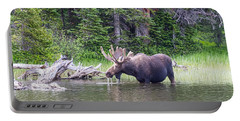 Water Feeding Moose Portable Battery Charger