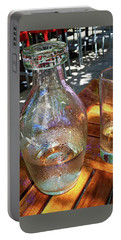 Water Glass And Pitcher Portable Battery Charger by Angela Annas