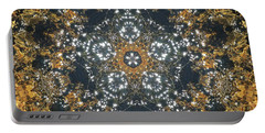 Portable Battery Charger featuring the mixed media Water Glimmer 5 by Derek Gedney