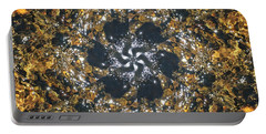 Portable Battery Charger featuring the mixed media Water Glimmer 6 by Derek Gedney