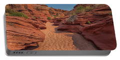 Water Hole Canyon Portable Battery Charger by David Cote