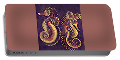 Portable Battery Charger featuring the painting Water Horses 1 by Megan Walsh