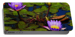 Water Lilies Iv Portable Battery Charger