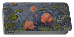 Water Lilies Lounge Portable Battery Charger by Felicia Tica