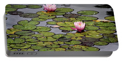 Water Lilies Portable Battery Charger by Shirley Mitchell