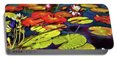 Water Lilly Pond Portable Battery Charger