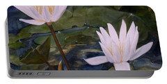 Water Lily At Longwood Gardens Portable Battery Charger by Laurie Rohner