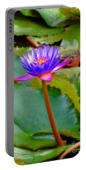 Water Lily In Tahiti Portable Battery Charger by Sue Melvin