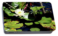 Portable Battery Charger featuring the photograph Water Lily by Meta Gatschenberger