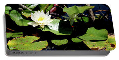 Water Lily Portable Battery Charger by Meta Gatschenberger