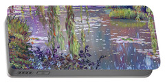 Water Lily Pond Giverny Portable Battery Charger