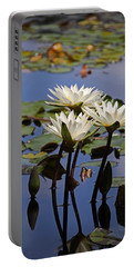 Water Lily Reflections Portable Battery Charger
