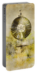 Portable Battery Charger featuring the photograph Water-pumping Windmill by Heiko Koehrer-Wagner