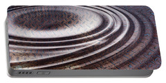 Portable Battery Charger featuring the digital art Water Ripple On Rusty Steel Plate  by Michal Boubin