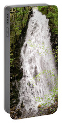 Portable Battery Charger featuring the photograph Water Roaring Down Cascade Falls, Farmington, Maine  -30377 by John Bald
