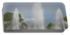 Water Spray - Swann Fountain - Philadelphia Portable Battery Charger by Bill Cannon