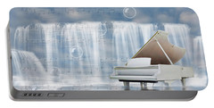 Water Synphony For Piano Portable Battery Charger by Angel Jesus De la Fuente